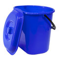 Blue plastic bucket with a lid Royalty Free Stock Photo