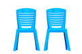 Blue plastic chair Stock Photography