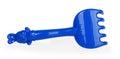 Blue plastic rake
