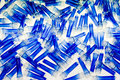 Blue plastic tubes Royalty Free Stock Photo