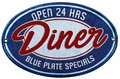 Blue Plate Special Royalty Free Stock Photo