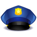 Blue Police Hat
