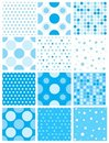 Blue polka dot