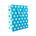Blue polka dot gift bag Royalty Free Stock Photo