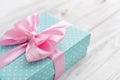 Blue Polka Dots Gift Box
