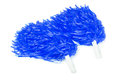Blue pom-poms Royalty Free Stock Photo