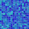 Blue pool tiles Stock Photography