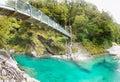 Blue Pools, Mt. Aspiring National Park, New Zealand Royalty Free Stock Photo