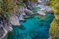 Blue Pools, New Zealand Royalty Free Stock Photo