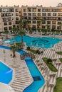 Blue pools at the resort Royalty Free Stock Photo