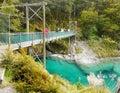 Blue Pools, South Island, New Zealand Royalty Free Stock Photo