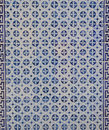 Blue portuguese tile in a facade of a building in lisbon portugal Royalty Free Stock Photography