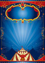 Blue poster circus Royalty Free Stock Images