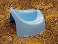 Blue potty Stock Images