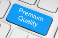 Blue premium quality button Royalty Free Stock Photo