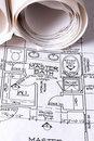 Blue Prints of New Home Royalty Free Stock Photo