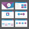 Blue purple Abstract presentation template Infographic elements flat design set for brochure flyer leaflet marketing Royalty Free Stock Photo
