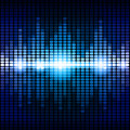 Blue and purple digital equalizer background Royalty Free Stock Photo