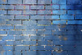 Blue And Purple Painted Brick Wall Background
