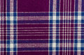 Blue purple and white plaid textile texture background Royalty Free Stock Photos