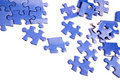 Blue puzzle pieces Royalty Free Stock Photo