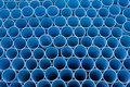 Blue pvc pipes pattern Stock Photography