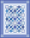 Blue Quilt Stock Photo