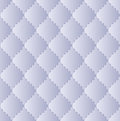 Blue quilted fabric embroidered thread seamless pattern Stock Photography
