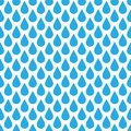 Blue rain drop seamless pattern background. Water and bad weather theme. Vector illustration Royalty Free Stock Photo