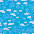 Blue rainy clouds pattern Stock Photography