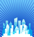 Blue real estate background Stock Images