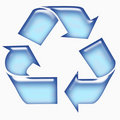 Blue recycle sign Royalty Free Stock Image