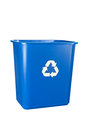 Blue recycling bin Stock Image