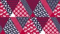 Blue and red Christmas naive seamless pattern Royalty Free Stock Photo