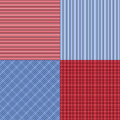 Blue and red simple stripes abstract seamless vector pattern, ge