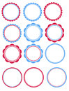 Blue and red tags with this purchase you will receive sets of each set is colored in perfect for you july th party these can be Stock Photo