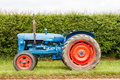 A blue and red vintage fordson major tractor Royalty Free Stock Photo