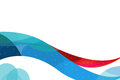 blue and red wave corporate background Royalty Free Stock Image