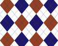 Blue, red and white argyle Stock Photos