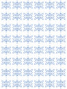 Blue repetitive floral pattern Royalty Free Stock Photo