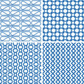 Blue retro pattern Royalty Free Stock Photo