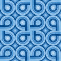 Blue Retro Pattern (weave) Royalty Free Stock Photo