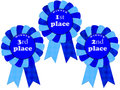 Blue ribbon awards Royalty Free Stock Photos