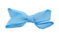 Blue ribbon bow tie Royalty Free Stock Photography