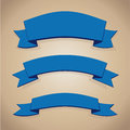 Blue ribbon set Royalty Free Stock Photo