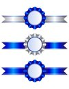 Blue Ribbons And Rosettes