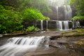 Blue Ridge Mountain Foggy Waterfall Royalty Free Stock Photo