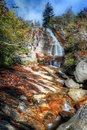 Blue ridge mountain waterfall hiking the mountains in graveyard fields you will come along high falls skies will greet you so just Royalty Free Stock Photos