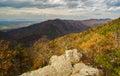 Blue Ridge Mountains of Virginia, USA Royalty Free Stock Photo