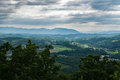 The Blue Ridge Mountains of Virginia, USA Royalty Free Stock Photo
